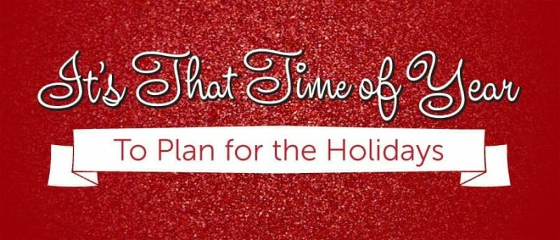 Get ready for the holidays!