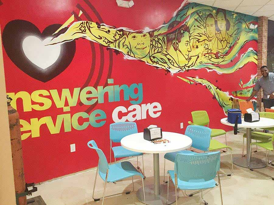 Answering Service Care Breakroom