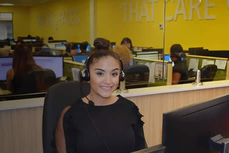 answering service operator at desk 24 hours