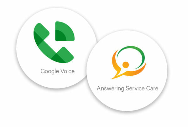 Google Voice + Answering Service Care